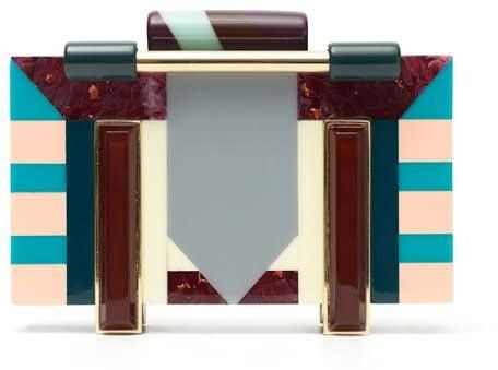 Adolfo Dominguez deco clutch. Debuted May 2016. Click for more details.