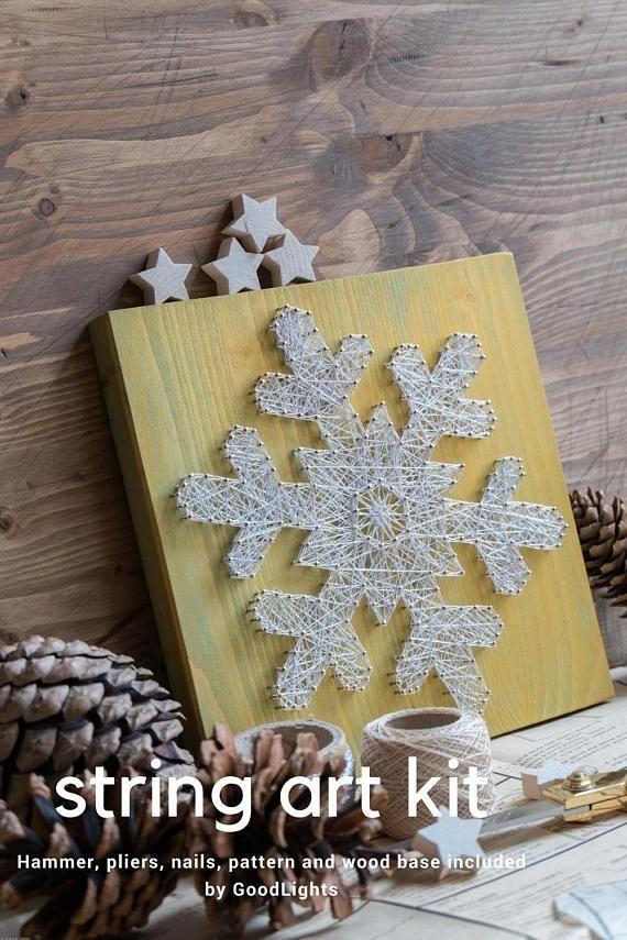 Diy String Art Kit For Adults And Kids Christmas String Art Kit