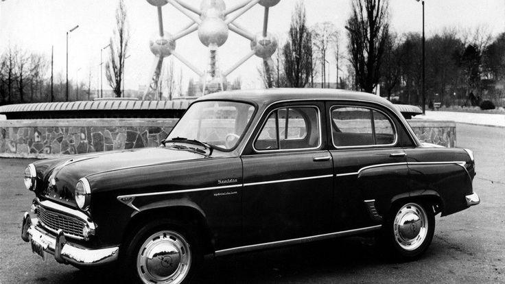 """Москвич 407, прошедший предпродажную подготовку фирмы Scaldia в Бельгии. Бензиновый мотор был в нём заменён на дизельный британский Perkins. Название модели - """"de Luxе"""". #былое  #былоеТС #мзма #scaldia #moskvich"""