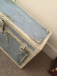 Beautiful Vintage French Shabby Chic Wood And Metal Trunk / Storage / Coffee Table |  EBay | Diy In 2018 | Pinterest | Shabby Chic Furniture, Shabby Chic And  Shabby