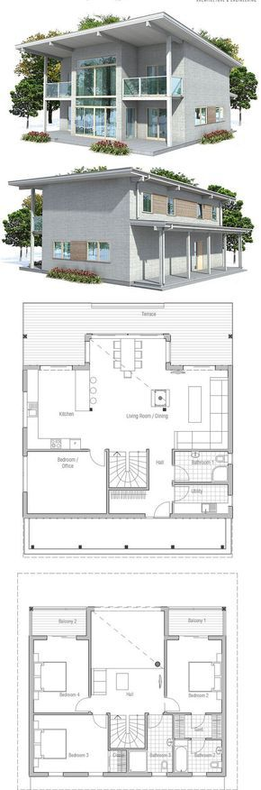 Small house plan with small building area small home for Smallhouse weberhaus