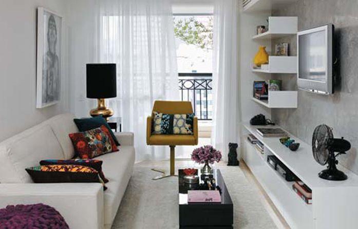 Narrow Apartment Design Small Narrow Apartment Living Room With Tv And White Sofa  Living .