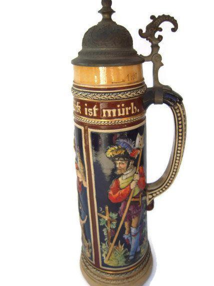 German Beer Stein  Vintage German Stein  Beer Stein by BeckVintage, $48.00