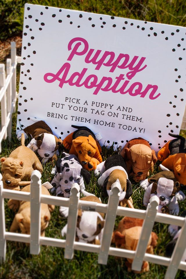 Puppy Party...Puppt Adoption...(Puppy Favors Oriental Trading...link on here http://www.orientaltrading.com/plush-dogs-holding-puppies-a2-6_904.fltr?Ntt=puppies ...)