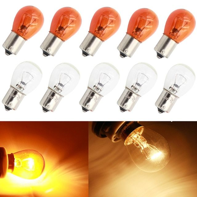 Lymoyo 10pcs Car 1156 P21w Ba15s Halogen Lamp 12v 21w Warm White Reverse Lights Brake Bulbs Stop Light Rear Turn Signal Drl 12v Re Halogen Lamp Stop Light Lamp