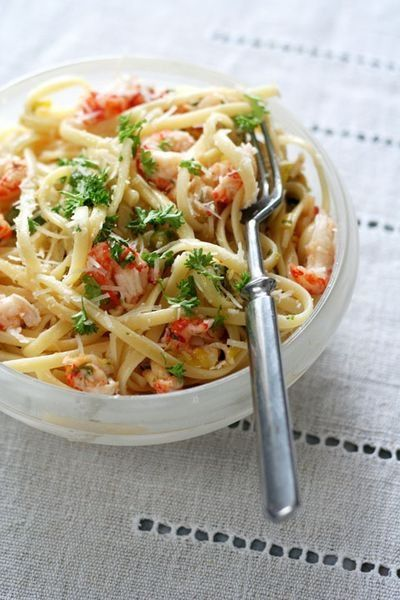 Crab Linguine - great dish to have during Lent.