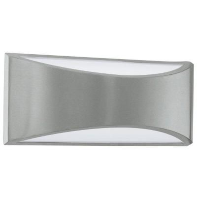 EGLO Volpino 2 Light Brushed Nickel Integrated LED Wall Light