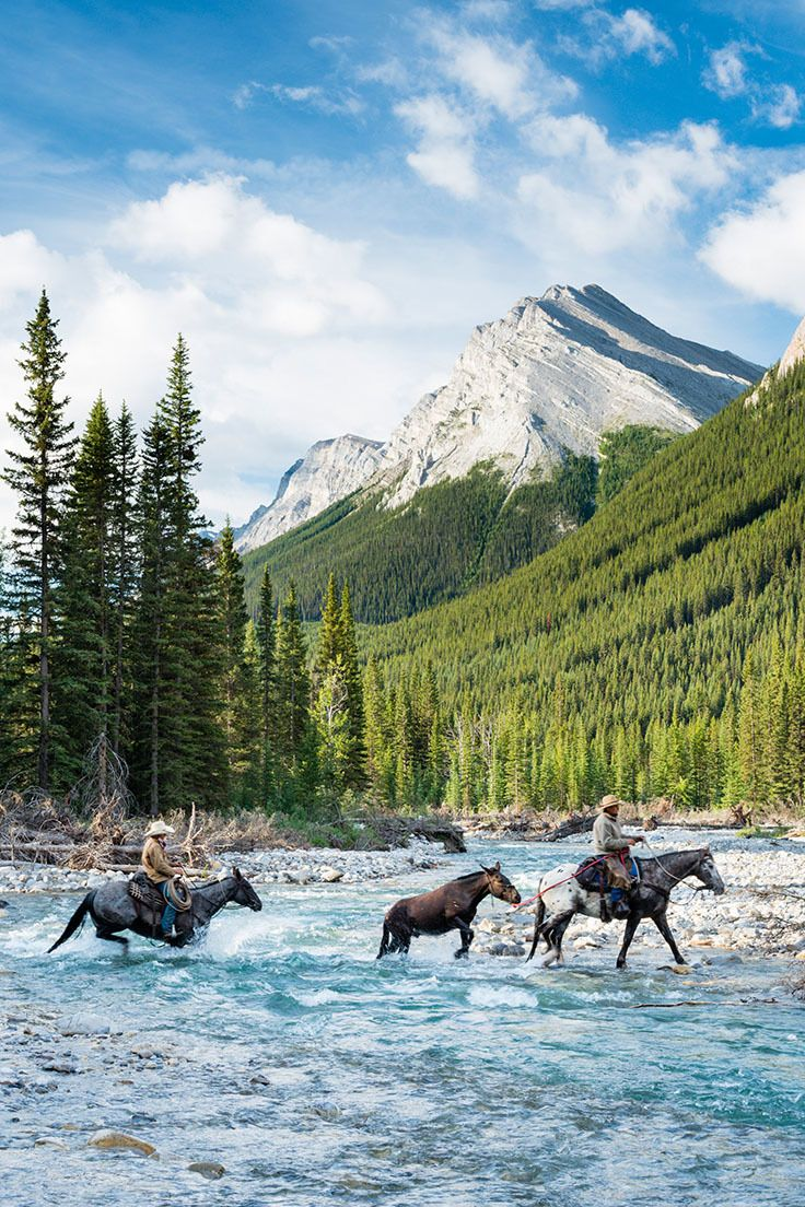 Guides from banff trail riders rocky mountains in alberta canada photo by