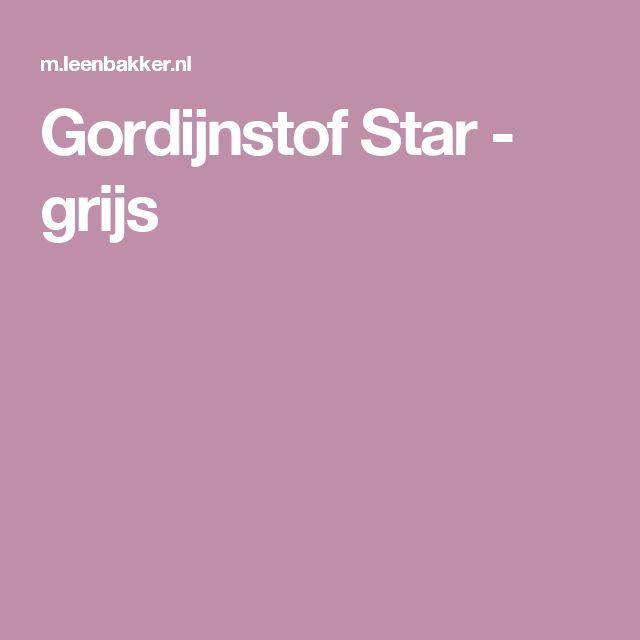 Gordijnstof Star - grijs