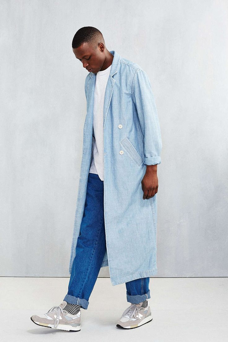 CPO Washed Indigo Duster Jacket - Urban Outfitters