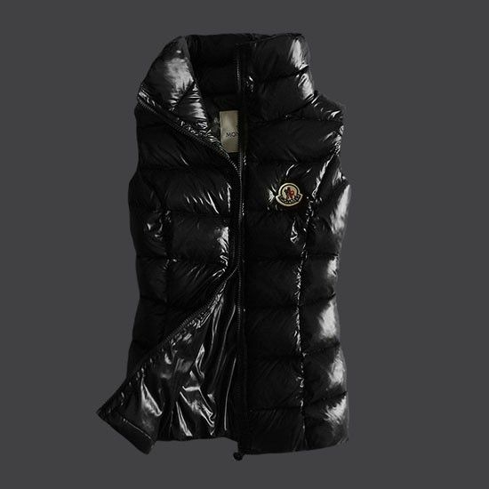 Moncler 2012 Style Womens Down Vest Fully Black [2900214] - £153.69 :