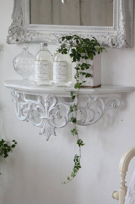 "All White Décor with a touch of greenery. ""Simply Beautiful"""