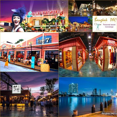 Asiatique the Riverfront. 1500 venues Bars, Restaurants, Markets, Malls, Cabaret, Stage  on the Chao Phraya river guaranteed to complete adventure for the whole family