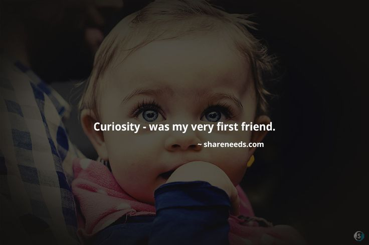 Curiosity - was my very first friend.  #friendshipquotes