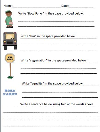 primary writing practice 27 famous people in history worksheets tpt language arts lessons. Black Bedroom Furniture Sets. Home Design Ideas
