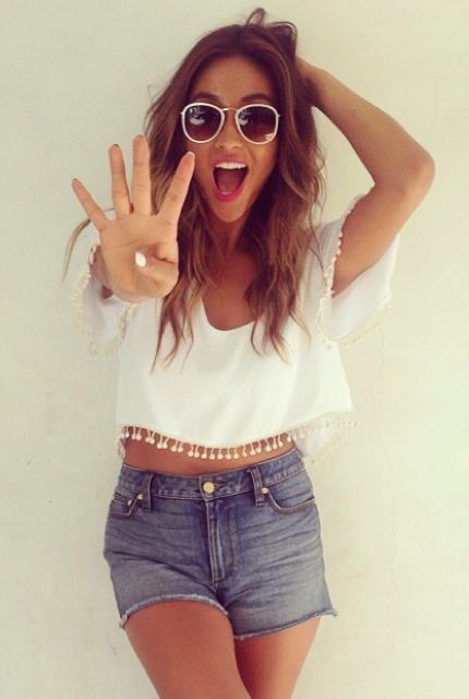 Shay Mitchell pom pom perfection