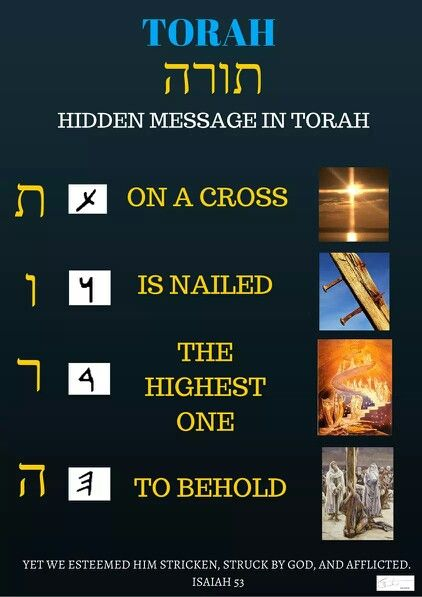 Torah meaning in Hebrew! - On a cross is nailed the Highest One to Behold ~ Isaiah 53:4