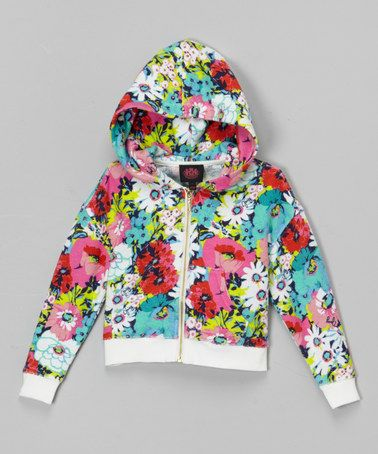 Look what I found on #zulily! Lemon Pop Couture Floral Zip-Up Hoodie #zulilyfinds