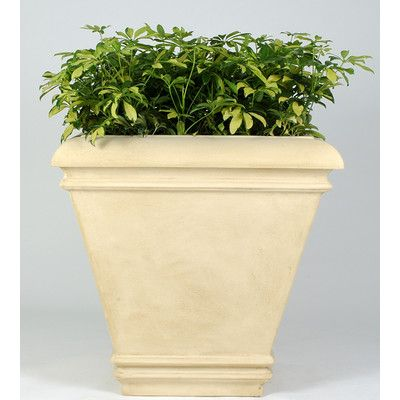 "Allied Molded Products Cezar Plastic Pot Planter Color: Anastasia Emerald, Size: 30"" H x 36"" W x 36"" D"