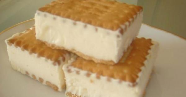 Πανεύκολο παγωτό σάντουιτς με πτί μπερ! Η καλύτερη λύση για ξαφνικούς επισκέπτες