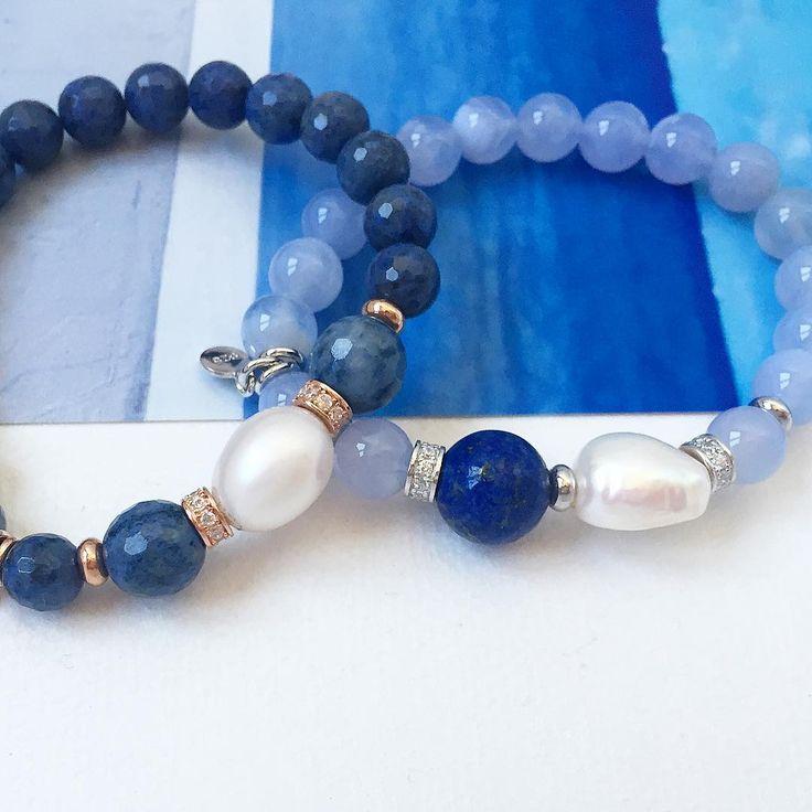 Pulseras de gemas naturales y perlas   #marinagarciajoyas #welovejewels