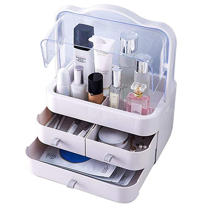 Makeup Organizer Clear Cosmetic Display Case Large Capacity