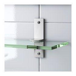 IKEA - GRUNDTAL, Skleněná police,  , 60 cm, , Tvrzené sklo -  odolné teplu, nárazu a těžším předmětům.