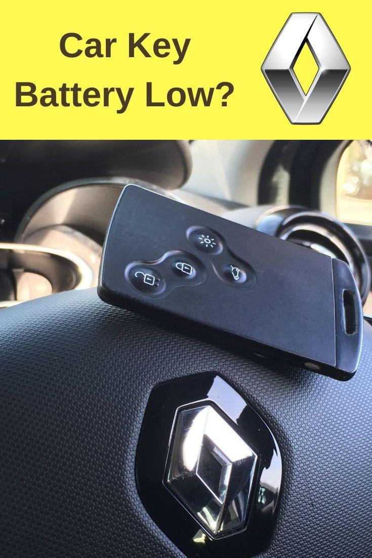 Renault Four Button Keycard How To Replace Key Battery New Car Key Key Diy Key