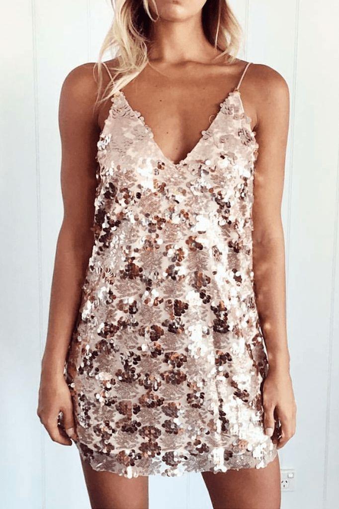 Leah Sequin Dress