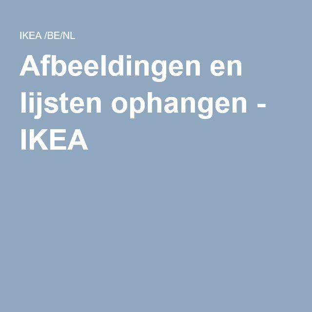 Afbeeldingen en lijsten ophangen - IKEA