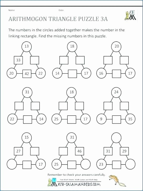 6th Grade Math Puzzles Printable Math Puzzle Worksheets In 2020 Math  Logic Puzzles, Maths Puzzles, Math Worksheets