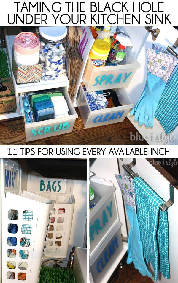 Kitchen Sink Organizer Ideas 202 best kitchen - under the sink images on pinterest | organized