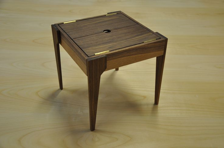 Small table with storageplace. Made in cooperation with Niels Peter Flint.  http://www.kjeldtoft.com/