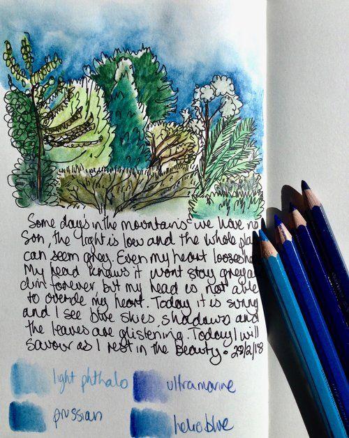 Blue Mountains Nature Journal artfoodculture com | Art Class