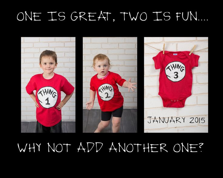 announcement, thing 1, thing 2, thing 3, third baby, sibling, big brother, big sister