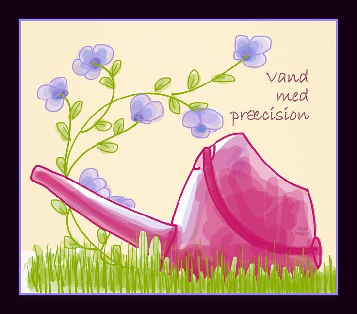 Vand med præcision- græsset er grønt hvor du vander det -  læs mere på https://www.facebook.com/Tal.meddit.barn.paadenfede.maade