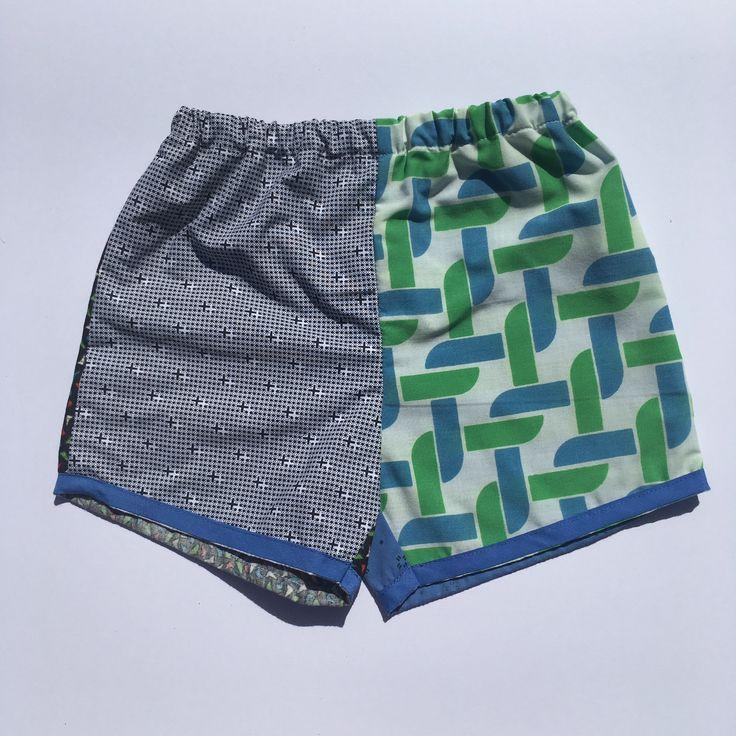 Boys shorts Vintage sheets Upcycled handmade children's clothing @lueysmum