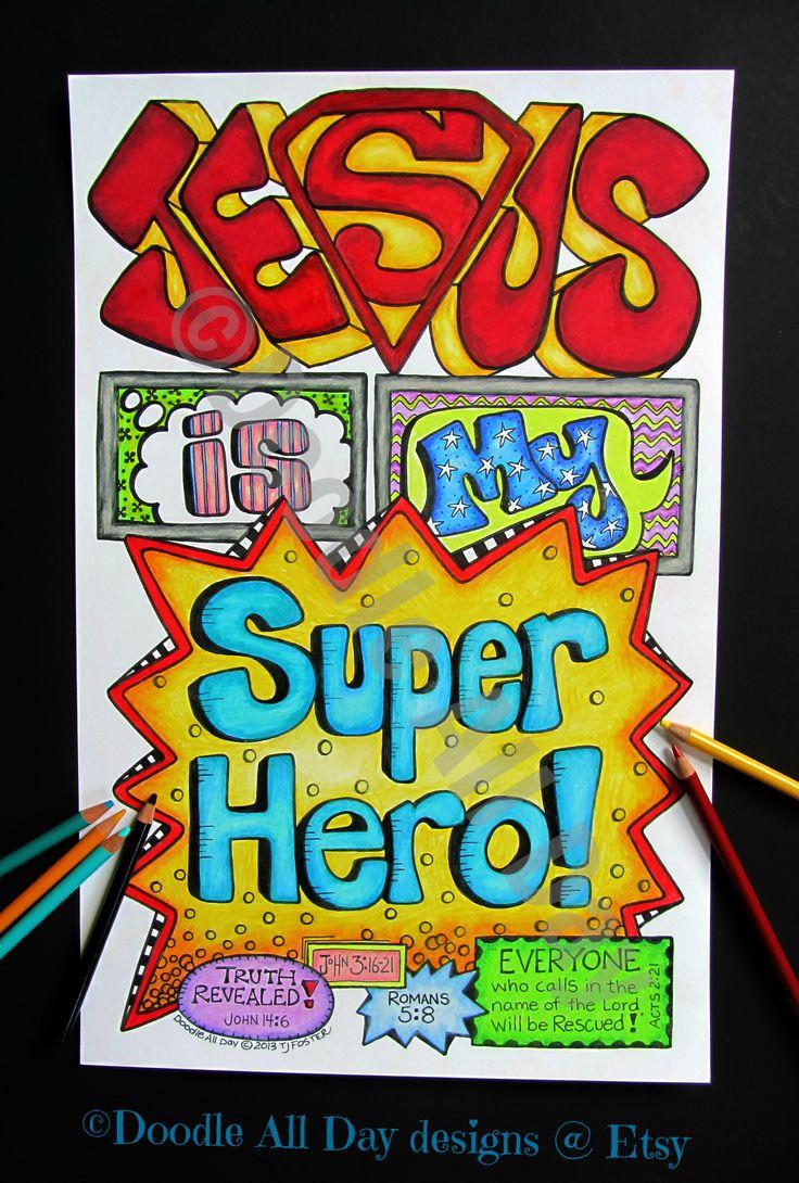Jesus Is My Superhero Vbs Crafts