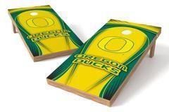 Oregon Ducks Single Cornhole Board - Drop