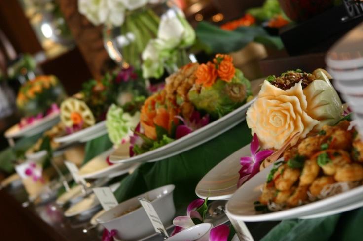 Thai set food set up