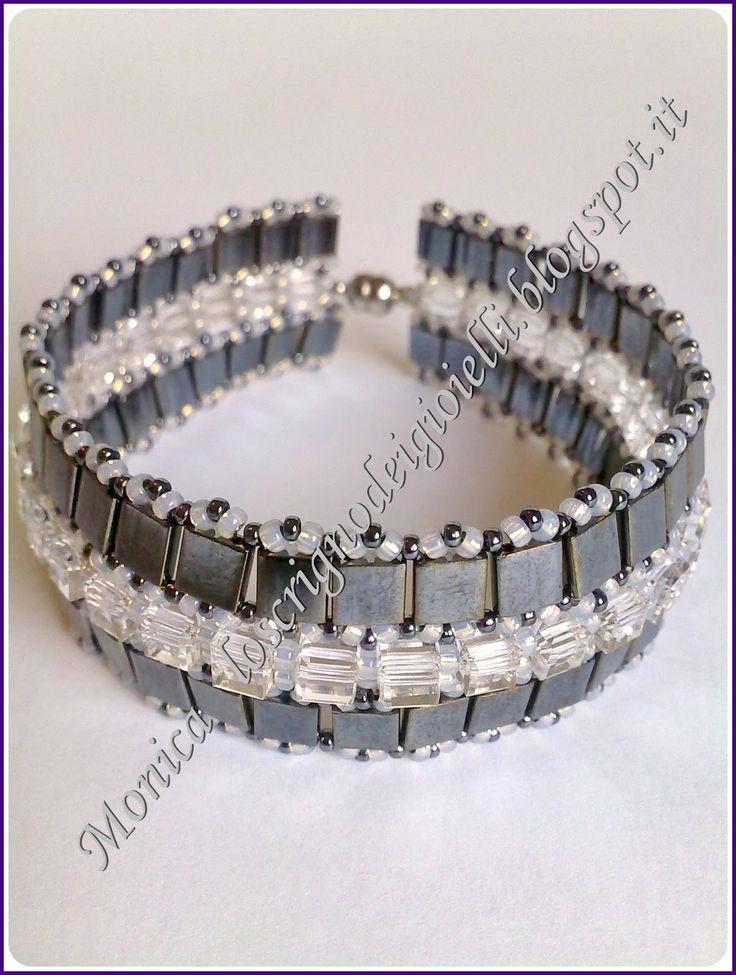 Swarovski cube bracelet
