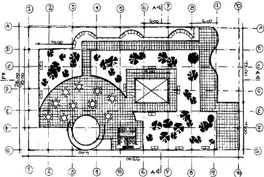 Planta de ''biblioteca barrial'' Tecnica:Dibujo en rapidrogafo y seyos de tinta