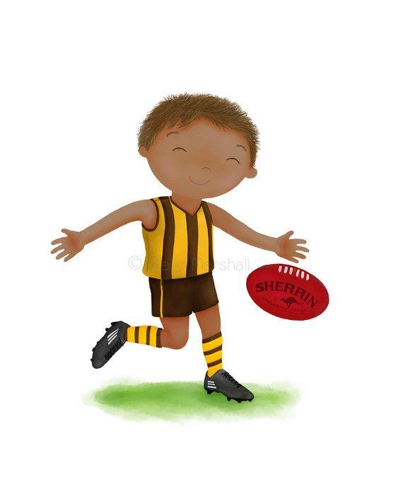 AFL Print  Australian Football   Football by SweetCheeksImages
