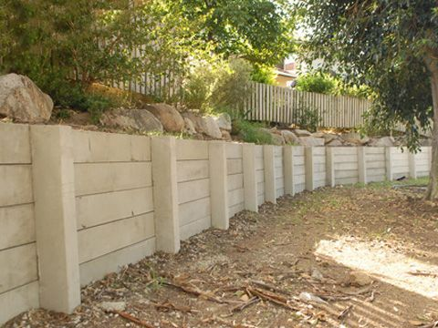 Grey Concrete Sleepers and Posts