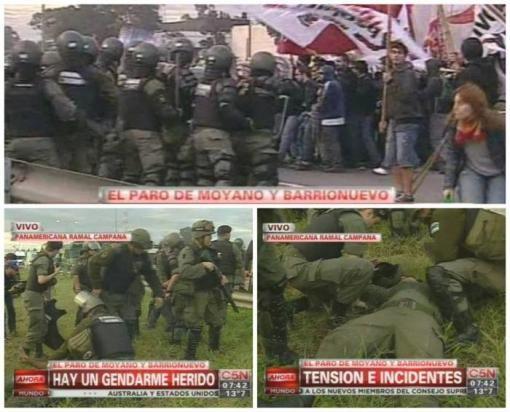 Paro en Argentina, con piquetes y heridos | MUNDO | LANACION.com.py