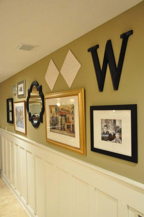 a modification of this would be interesting if the letters-shapes and pictures evolved down the hallway as we entered each girls room area-
