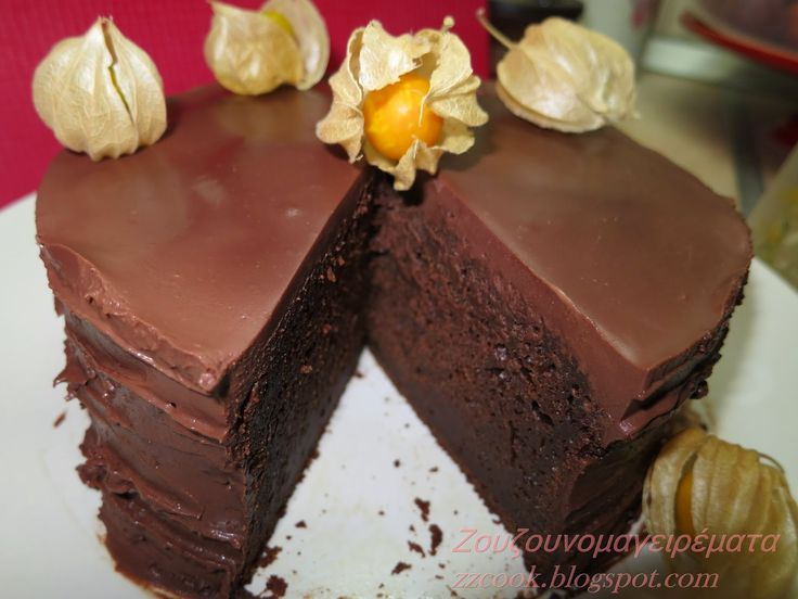 Ζουζουνομαγειρέματα: Σοκολατένιο κέικ με άρωμα νες καφέ και γλάσο σοκολ...