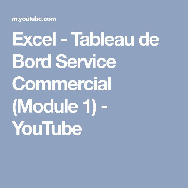 Excel - Tableau de Bord Service Commercial (Module 1) - YouTube