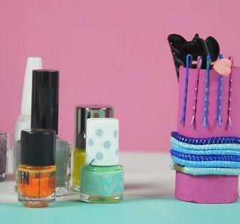 Genial idea para reciclar tubos de papel y organizar tus accesorios, ¡tienes que intentarla! - IMujer