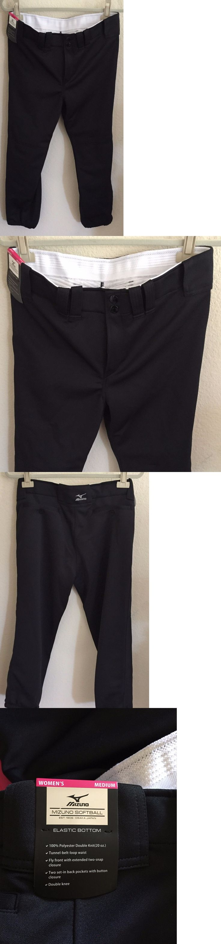 Baseball Pants 181343: Mizuno Womens Belted Softball Baseball Pants Black Medium -> BUY IT NOW ONLY: $30 on eBay!